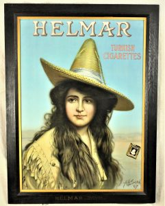 Rare Helmar Cigar Advertising